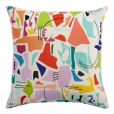 Multicolor Melody Outdoor Throw Pillow