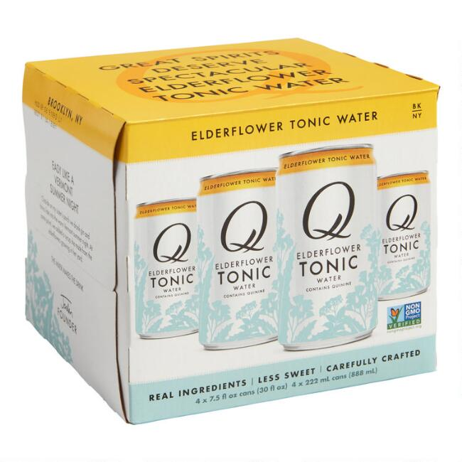 Q Mixers Elderflower Tonic Cans 4 Pack