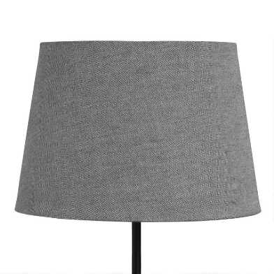 Dark Gray Linen Accent Lamp Shade