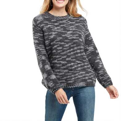 Light And Dark Gray Space Dye Sweater